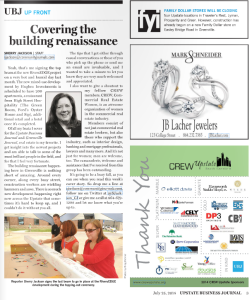 7.25.14 UBJ Ad and Article